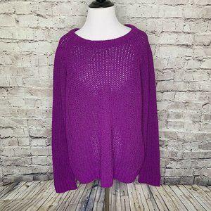 Rag & Bone New York Purple Heavy Knit Sweater
